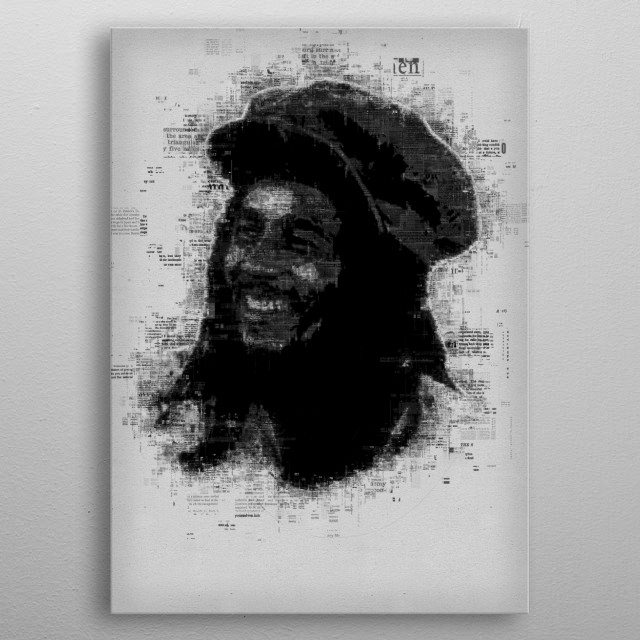 Bob Marley  metal poster