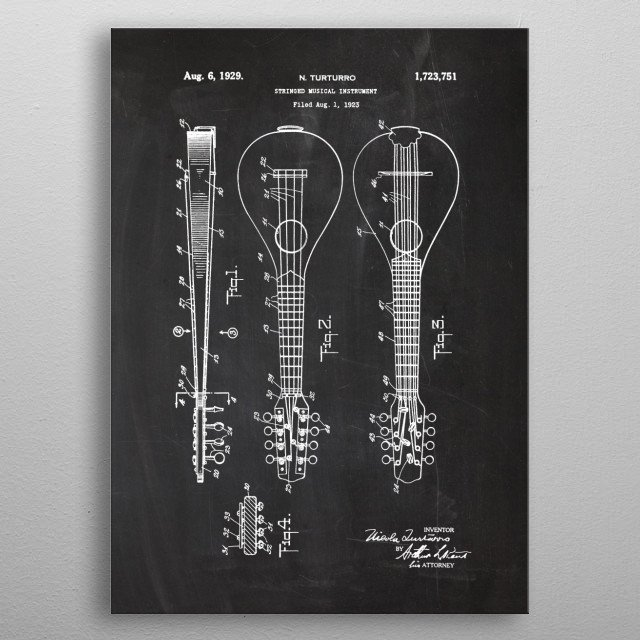 Stringed Musical Instr. metal poster