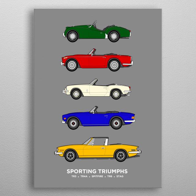 Sporting Triumphs metal poster