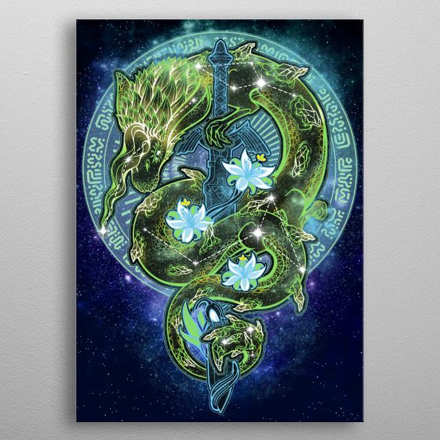 Wild Starry Sky metal poster