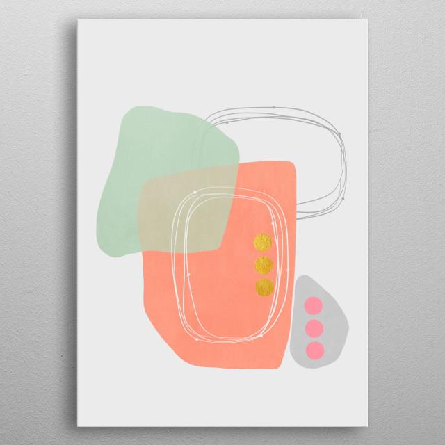 Modern minimal forms 49 metal poster