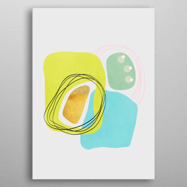 Modern minimal forms 48 metal poster