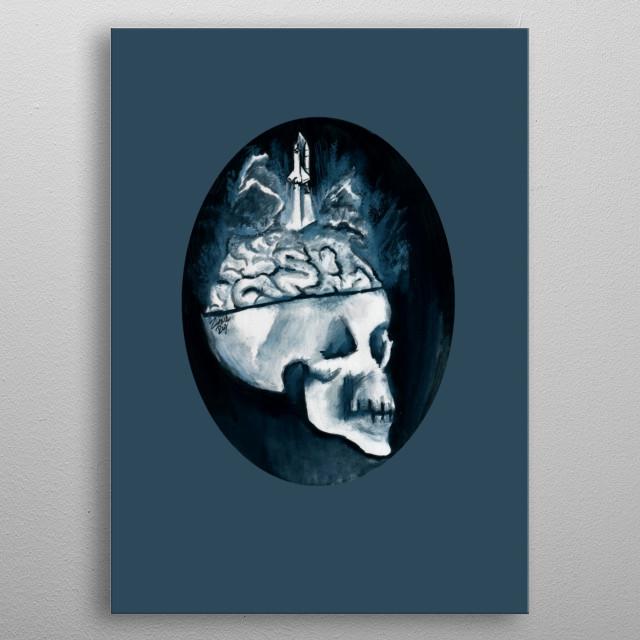 Mensa Ready metal poster