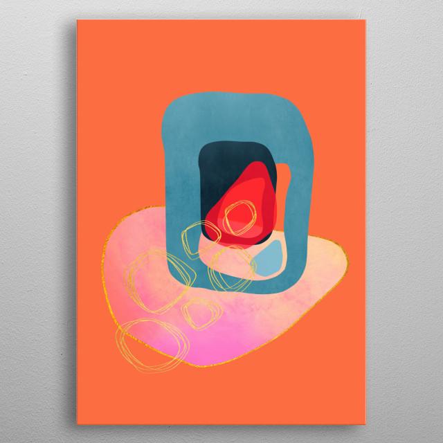 Modern minimal forms 43 metal poster