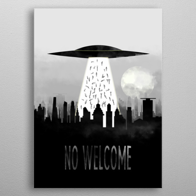 High-quality metal print from amazing Aliens And Ufo collection will bring unique style to your space and will show off your personality. metal poster