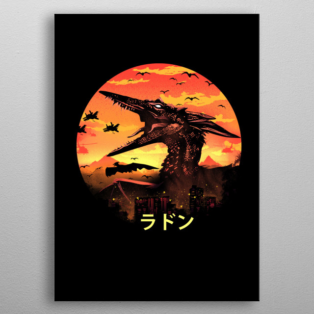 The Pteranodon metal poster