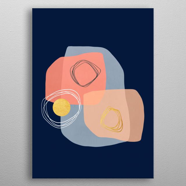 Modern minimal forms 50 metal poster