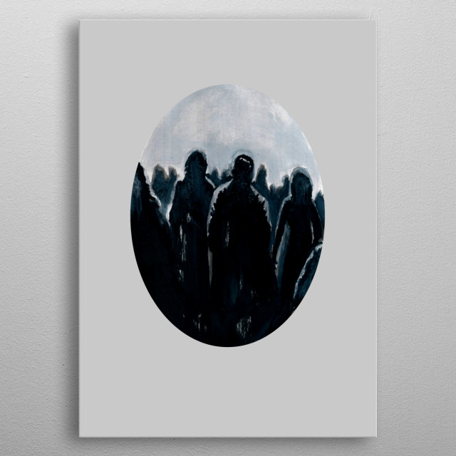 Fascinating  metal poster designed with love by zombierust. Decorate your space with this design & find daily inspiration in it. metal poster