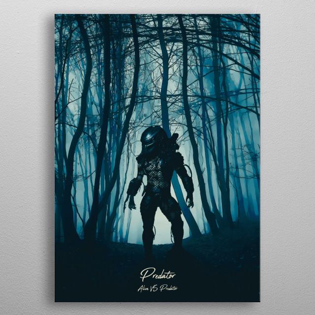 Predator vs Alien metal poster