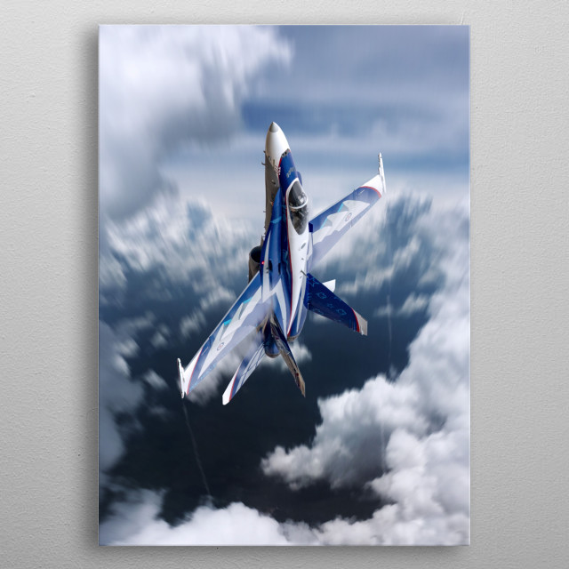 The RCAF CF-18 Hornet Demo for 2018 metal poster