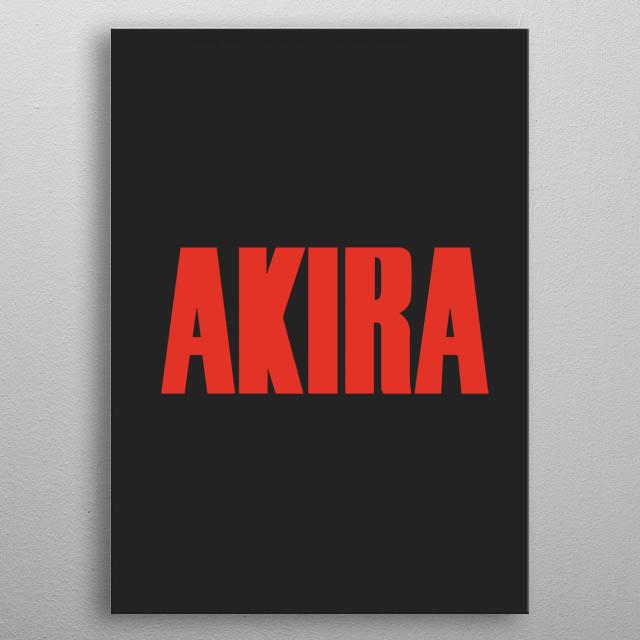 Akira - Icon 3 metal poster