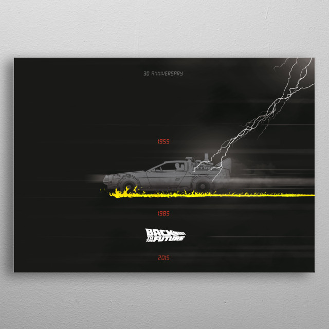 Back to the future 30th anniversary metal poster