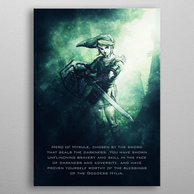 Legend of Zelda / Tagline  metal poster