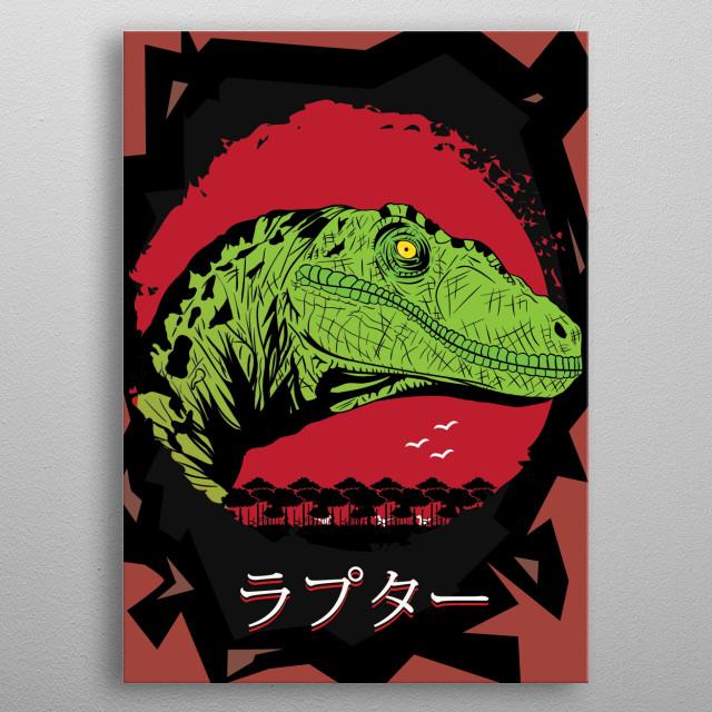 Velociraptor metal poster