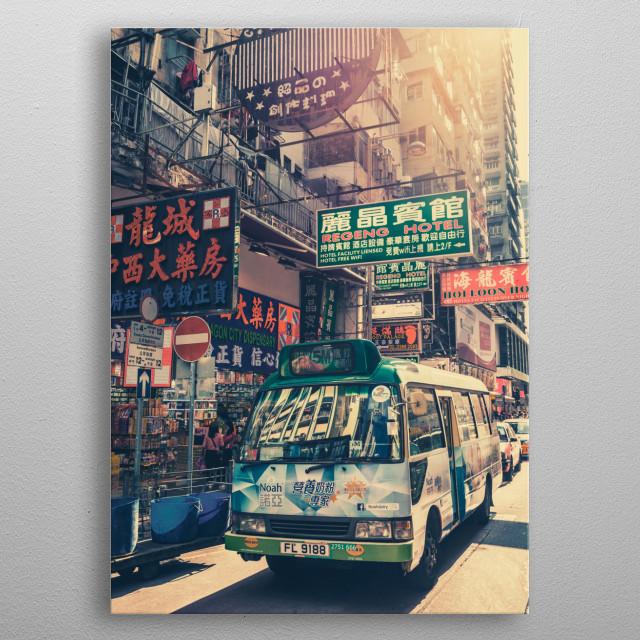 Hong Kong Signs 2 metal poster