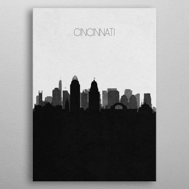 High-quality metal print from amazing Modern City Posters collection will bring unique style to your space and will show off your personality. metal poster