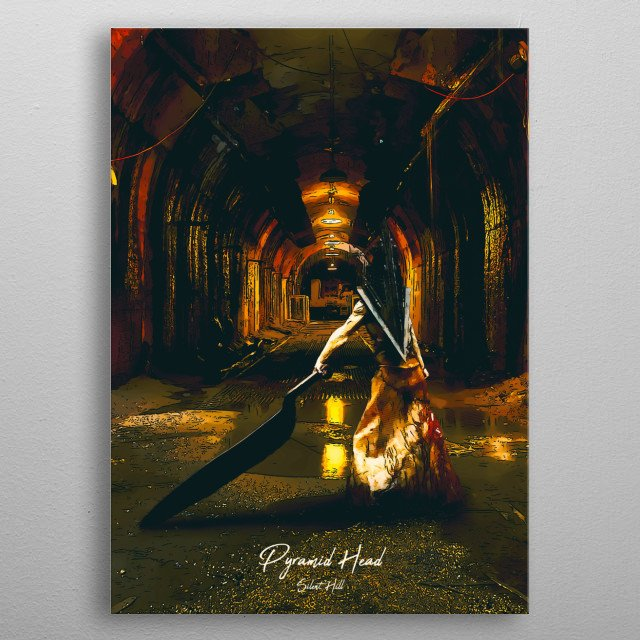 Silent Hill - Pyramid Head metal poster
