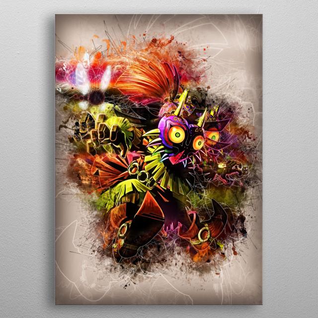 Skull Kid - Majoras Mask  metal poster