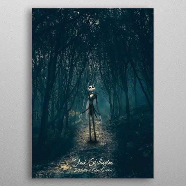 The Nightmare Before Christmas. - Jack Skellington metal poster