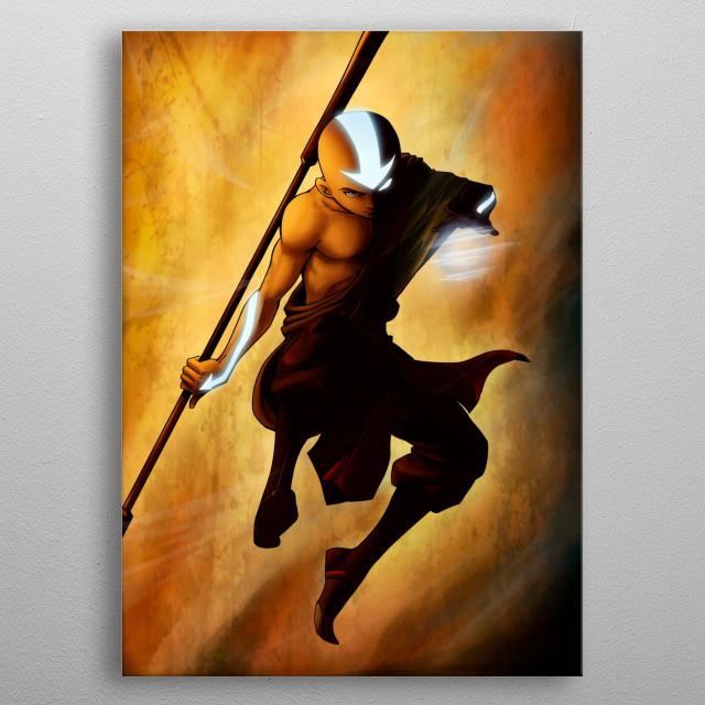 Aang - Avatar State  metal poster