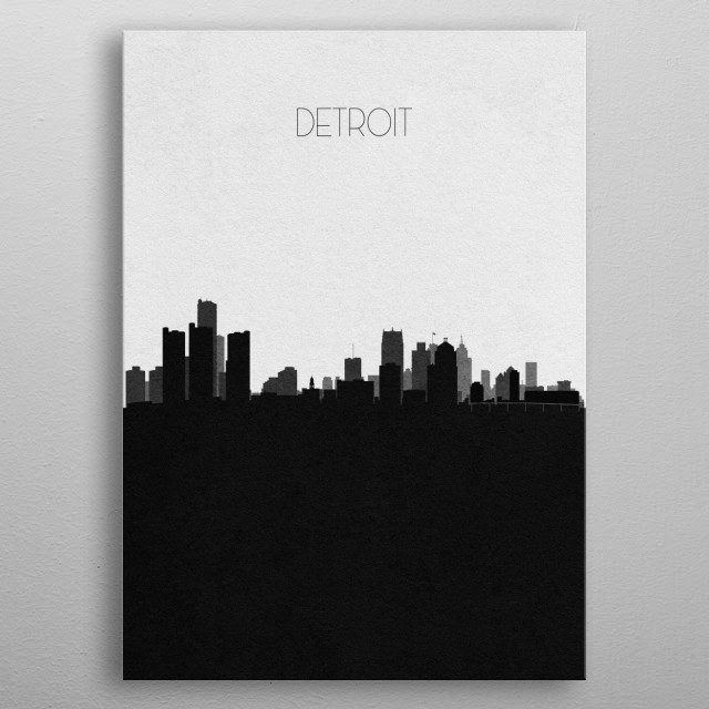 Destination: Detroit metal poster