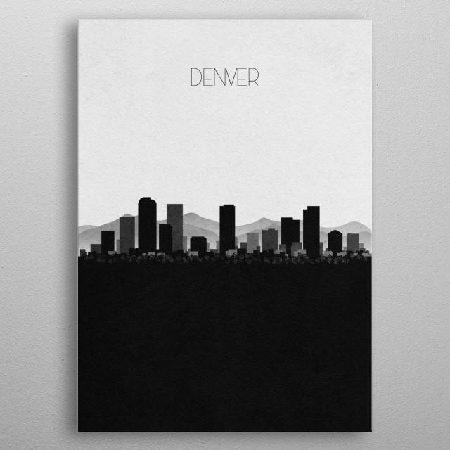 Destination: Denver metal poster