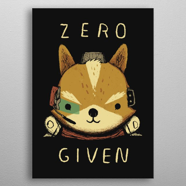 zero star fox given ! metal poster