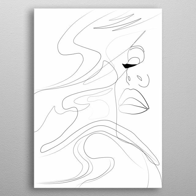 Elegant Woman metal poster