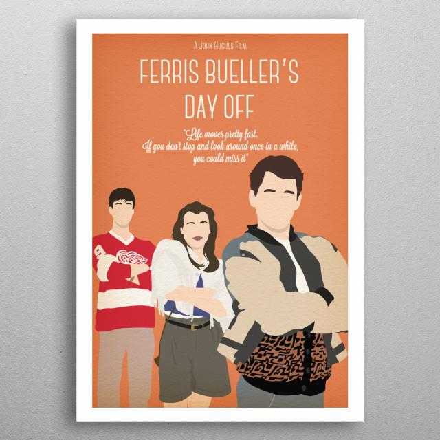Ferris Bueller's Day Off metal poster