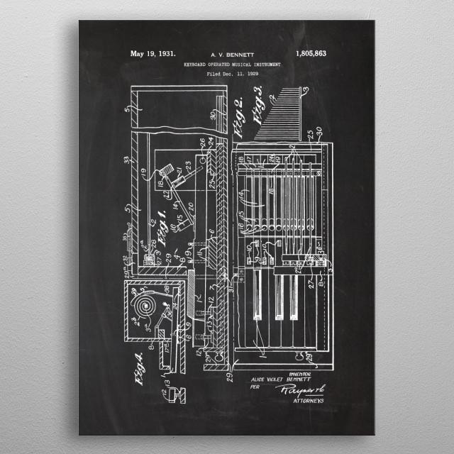 Keyboard Operated Instr. metal poster