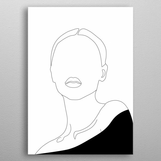 Woman Elegant Line metal poster
