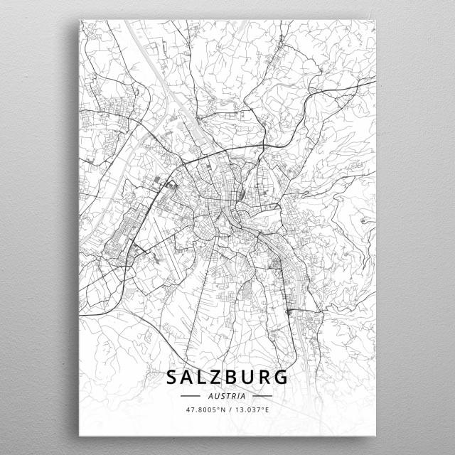 Salzburg, Austria metal poster