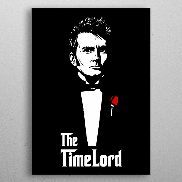 The Time Lord metal poster