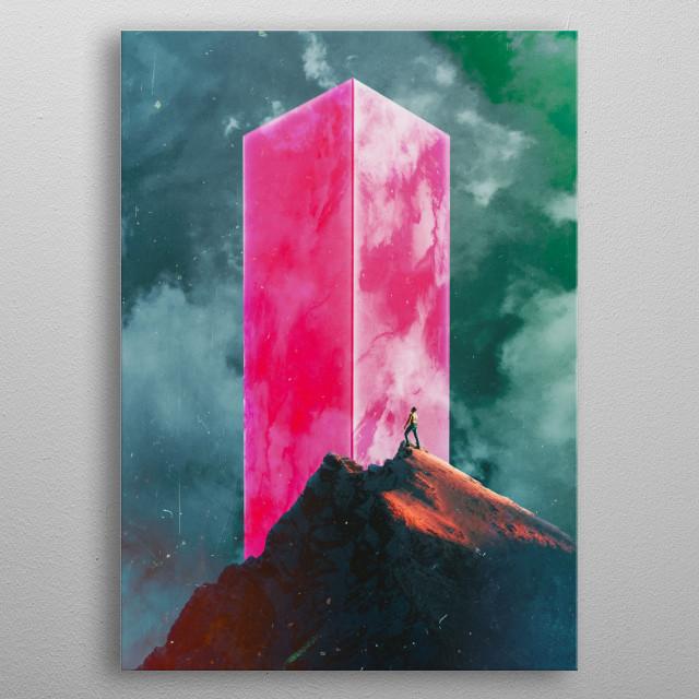 The Climber metal poster