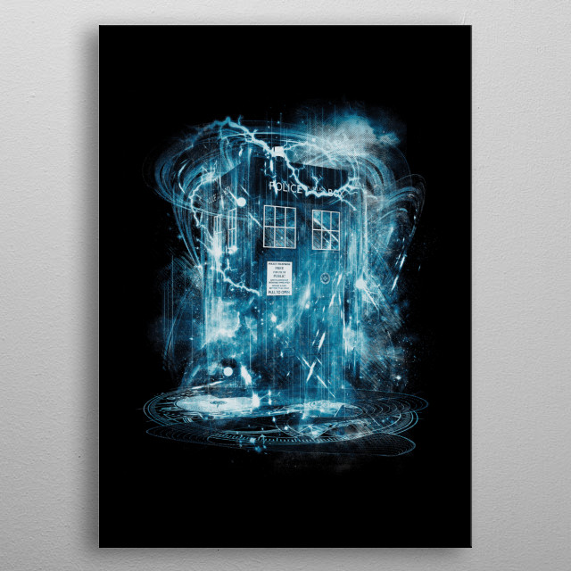 time and space storm metal poster