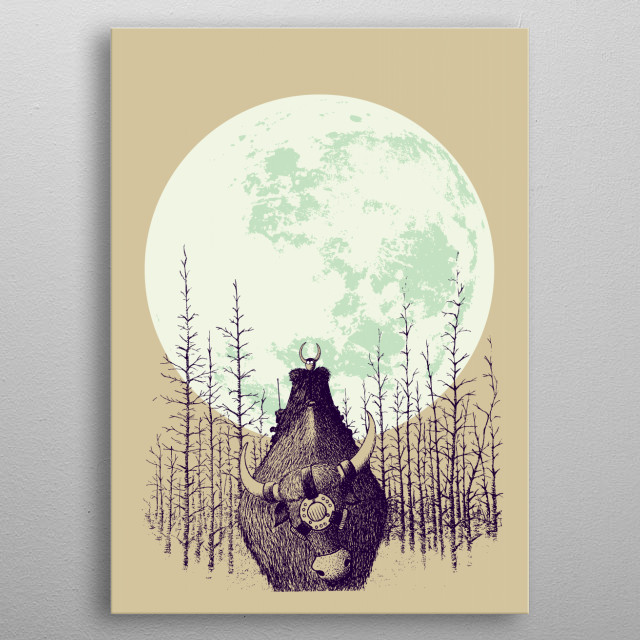 Fascinating metal poster designed by mangulica illustrations. Displate has a unique signature and hologram on the back to add authenticity to each design. metal poster