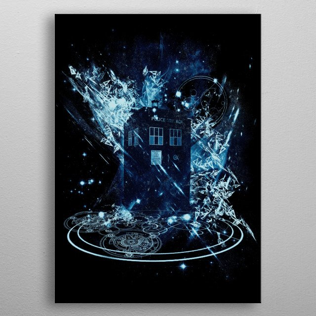 time and space vortex metal poster