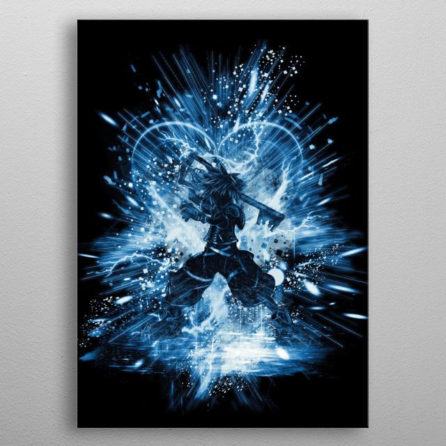 kingdom storm-blue version metal poster