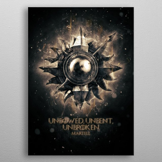 martell metal poster
