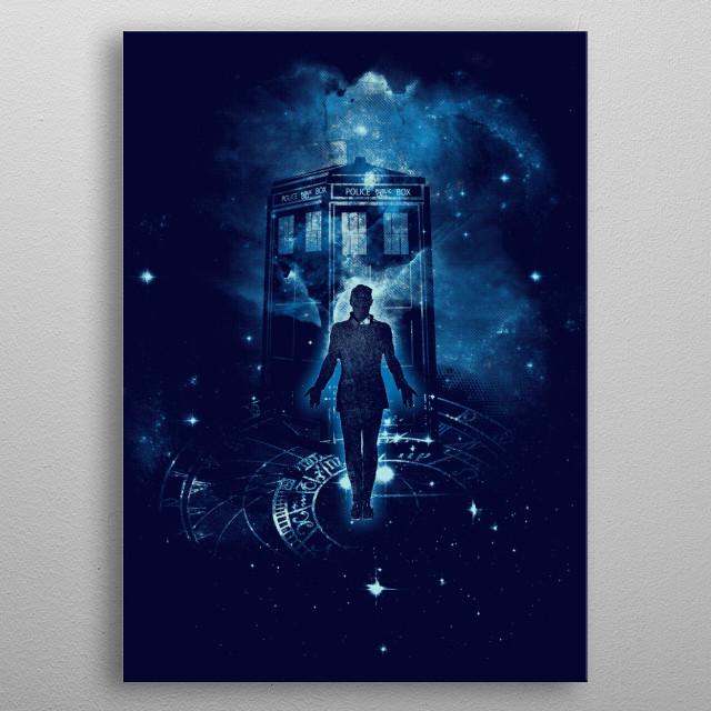 time traveller metal poster