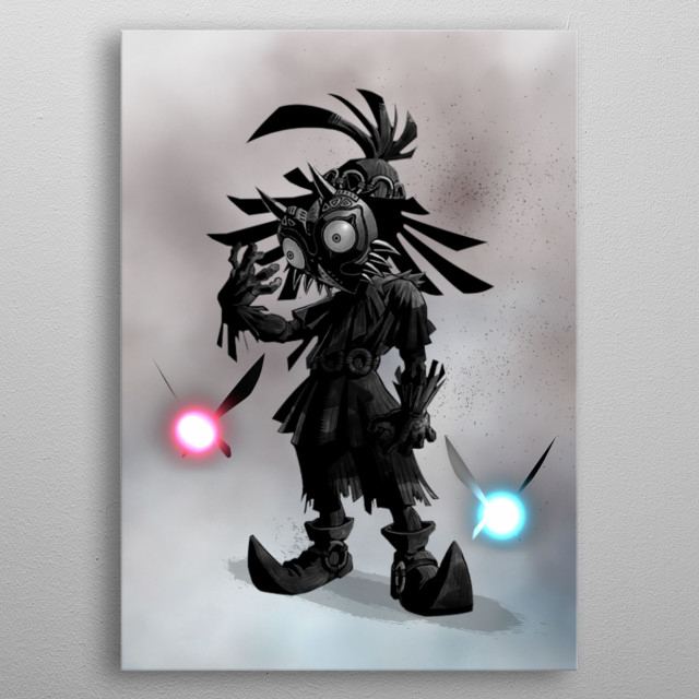 The kid of the mask metal poster