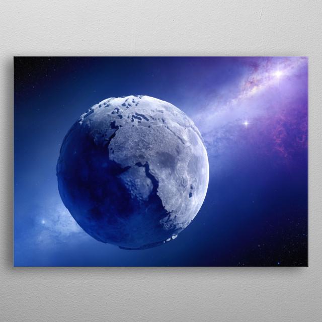 Lifeless earth futuristic metal poster