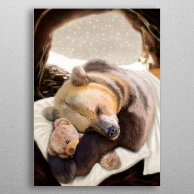Sweet dreams, Mr Bear metal poster