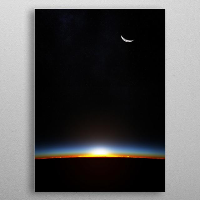 earth sunrise metal poster
