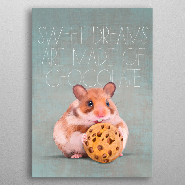 Sweet dream choco biscuit metal poster