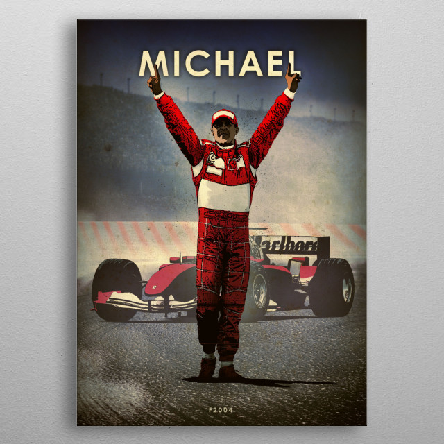 High-quality metal print from amazing Racing Drivers Legends collection will bring unique style to your space and will show off your personality. metal poster