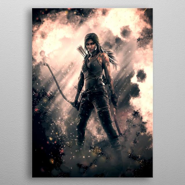 Adventure Girl metal poster