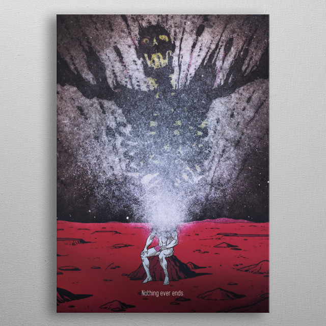 Dr Manhattan - Nothing ever ends metal poster