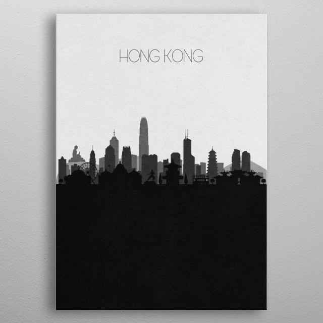 Destination: Hong Kong metal poster