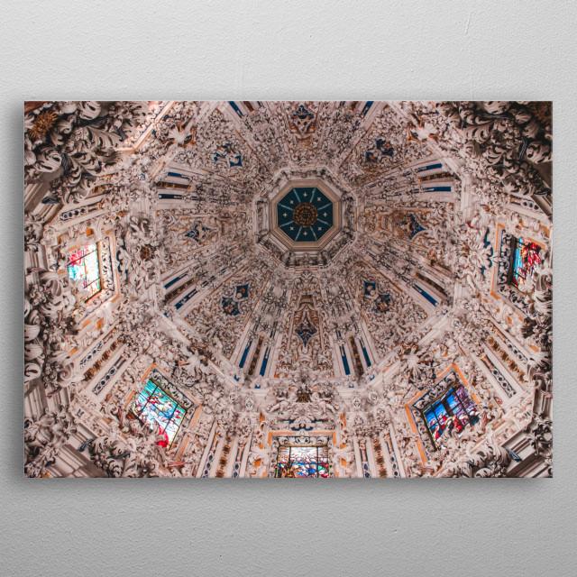 Mesmerizing chapel ceiling metal poster